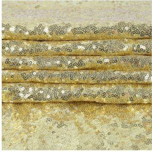 Sparkly GOLD Backdrop Sequin Wedding Curtain